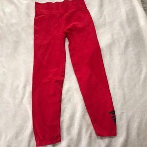 NWOT Medium Bright Red Soft & Comfy Pink Legging